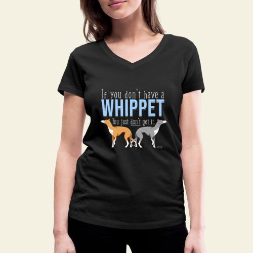 Whippet Get it III - Stanley & Stellan naisten v-aukkoinen luomu-T-paita