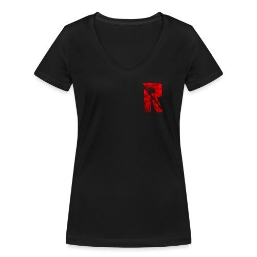 RaZe R Logo - Women's Organic V-Neck T-Shirt by Stanley & Stella