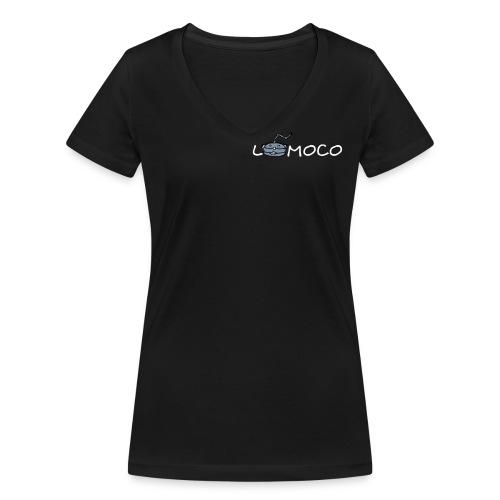 logolomoco3cweiss - Frauen Bio-T-Shirt mit V-Ausschnitt von Stanley & Stella