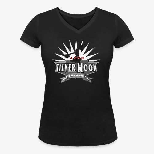 Silver Moon Logo gross - Frauen Bio-T-Shirt mit V-Ausschnitt von Stanley & Stella