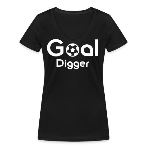 Goal Digger 2 - Women's Organic V-Neck T-Shirt by Stanley & Stella