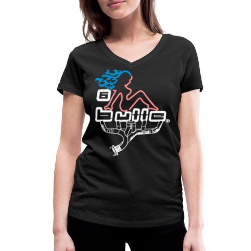 6bulle Hot Rod - T-shirt bio col V Stanley & Stella Femme