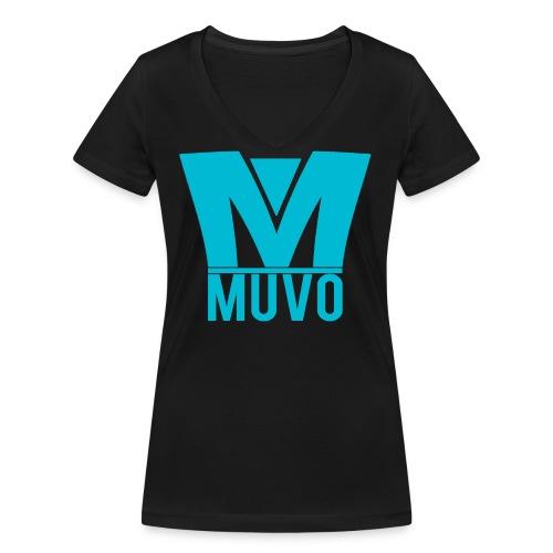 Crown Muvo Logo - Simple - Ekologisk T-shirt med V-ringning dam från Stanley & Stella