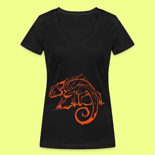 iguana - Camiseta ecológica mujer con cuello de pico de Stanley & Stella