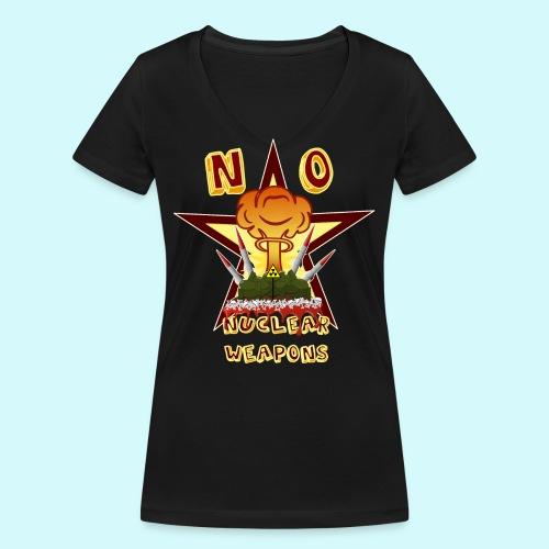 no nuclear Weapons - Keine Atomwaffen - Frauen Bio-T-Shirt mit V-Ausschnitt von Stanley & Stella