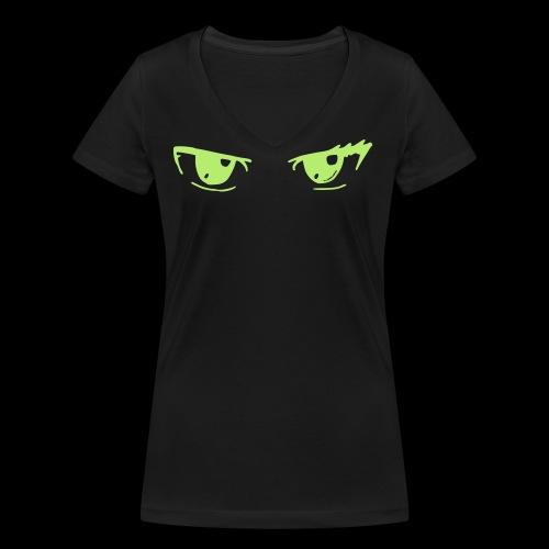 Erza_Augen_besser - Frauen Bio-T-Shirt mit V-Ausschnitt von Stanley & Stella