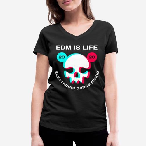 edm electronic dance music - Frauen Bio-T-Shirt mit V-Ausschnitt von Stanley & Stella