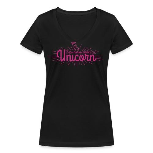 More Unicorn - Økologisk Stanley & Stella T-shirt med V-udskæring til damer