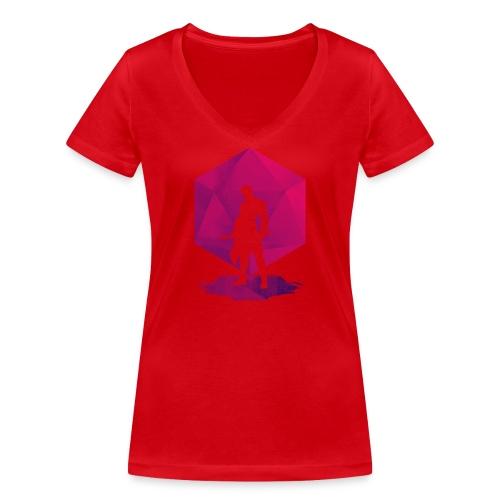 Varjo-salamurhaaja - Dungeons and Dragons d20 - Stanley & Stellan naisten v-aukkoinen luomu-T-paita