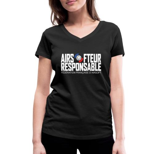 Airsofteur Responsable - T-shirt bio col V Stanley & Stella Femme