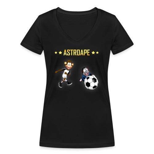 Astroape Moley Toschuss - Frauen Bio-T-Shirt mit V-Ausschnitt von Stanley & Stella