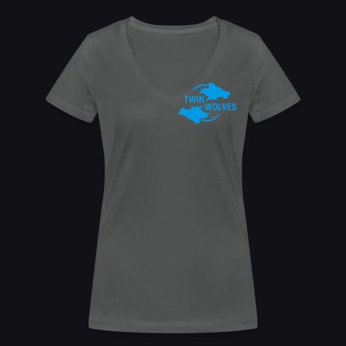 Twin Wolves Studio - T-shirt ecologica da donna con scollo a V di Stanley & Stella