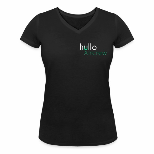 hullo Aircrew Dark - Women's Organic V-Neck T-Shirt by Stanley & Stella