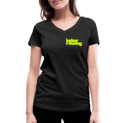 indoor rowing - Women's Organic V-Neck T-Shirt by Stanley & Stella