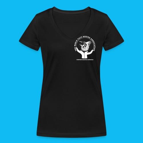 WTBA White PNG - Women's Organic V-Neck T-Shirt by Stanley & Stella