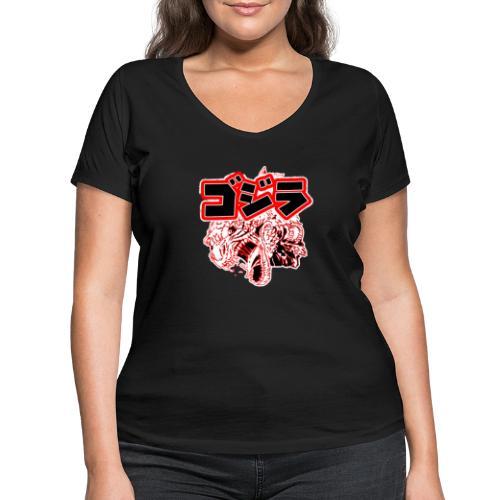 Japan Monster - Frauen Bio-T-Shirt mit V-Ausschnitt von Stanley & Stella