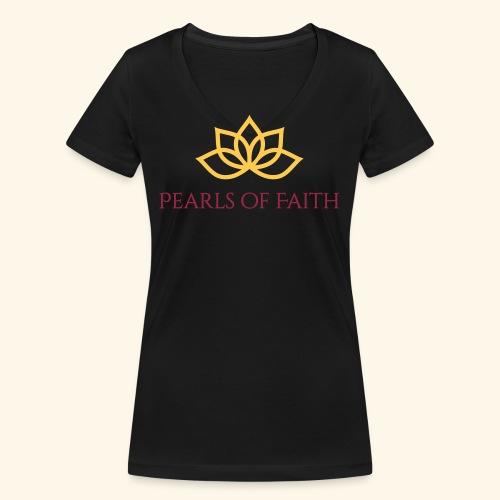 Pearls of Faith - Frauen Bio-T-Shirt mit V-Ausschnitt von Stanley & Stella