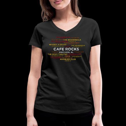 Legendary Rock Clubs - Vrouwen bio T-shirt met V-hals van Stanley & Stella