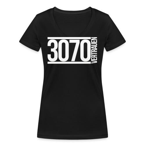 3070-vertrauen_logo-big - Frauen Bio-T-Shirt mit V-Ausschnitt von Stanley & Stella