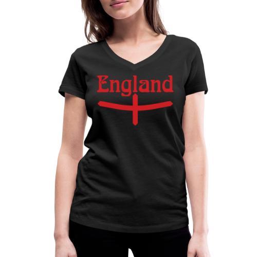 England motif - Women's Organic V-Neck T-Shirt by Stanley & Stella