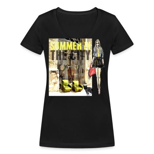 SUMMER IN THE CITY - Frauen Bio-T-Shirt mit V-Ausschnitt von Stanley & Stella