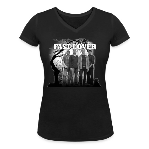 2016 05 31 FL T Shirt vorne png - Frauen Bio-T-Shirt mit V-Ausschnitt von Stanley & Stella
