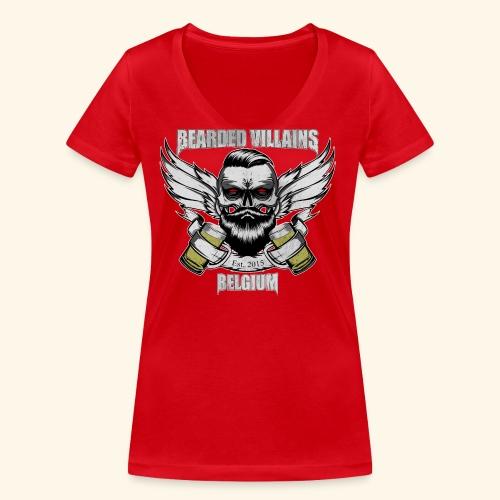Bearded Villains Belgium - Women's Organic V-Neck T-Shirt by Stanley & Stella