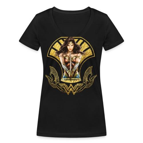 Wonder Woman Schwert Und Schild - Frauen Bio-T-Shirt mit V-Ausschnitt von Stanley & Stella