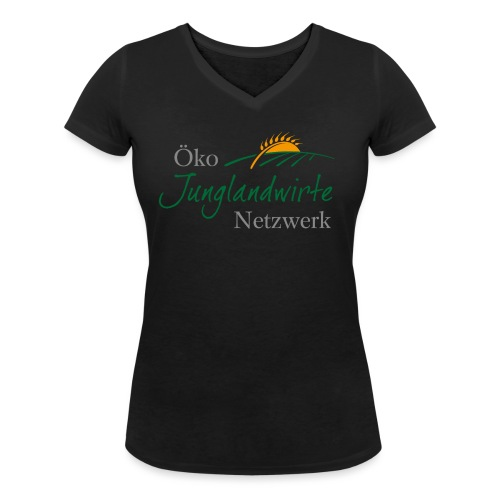 junglandwirtetagung 3C simple netzwerk png - Frauen Bio-T-Shirt mit V-Ausschnitt von Stanley & Stella