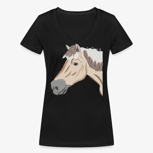 Fjord Pony - Frauen Bio-T-Shirt mit V-Ausschnitt von Stanley & Stella