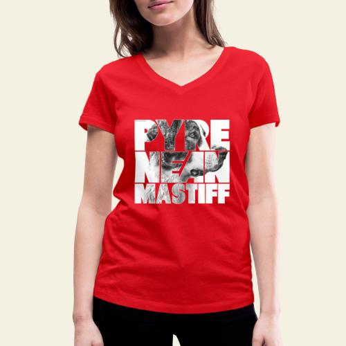 Pyrenean Mastiff N - Stanley & Stellan naisten v-aukkoinen luomu-T-paita