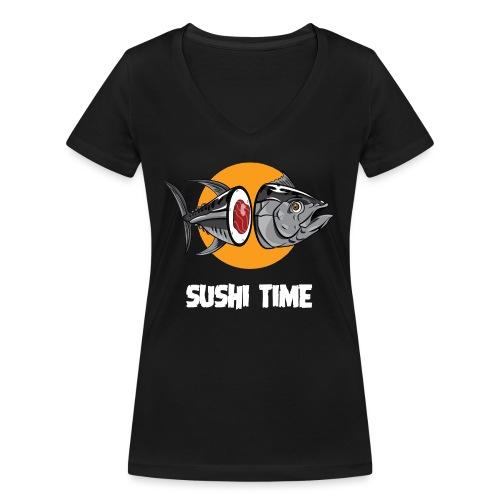 SUSHI TIME-tonno-b - T-shirt ecologica da donna con scollo a V di Stanley & Stella