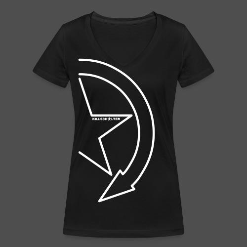 Logo marki 1/2 my - Ekologiczna koszulka damska z dekoltem w serek Stanley & Stella