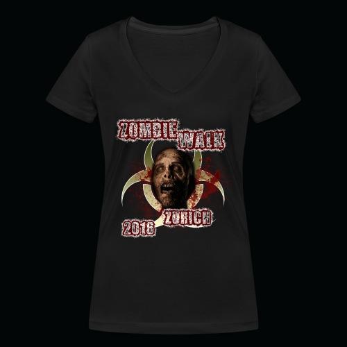 shirt zombie walk2 png - Frauen Bio-T-Shirt mit V-Ausschnitt von Stanley & Stella