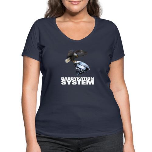 DADDYKATION SYSTEM // LOGO - Frauen Bio-T-Shirt mit V-Ausschnitt von Stanley & Stella