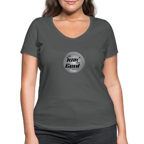 Ne Klik Mee Gent vzw The Loggia - Vrouwen bio T-shirt met V-hals van Stanley & Stella