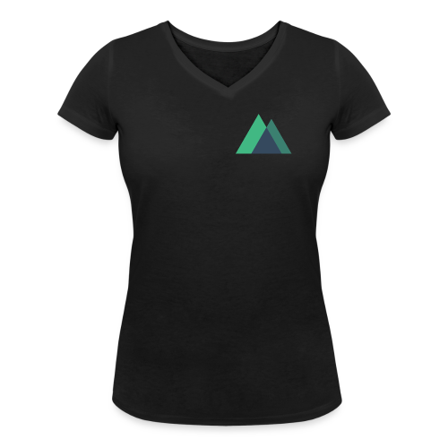 Mountain Logo - Women's Organic V-Neck T-Shirt by Stanley & Stella