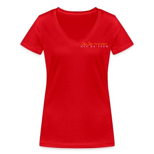 inkscape_logonez - Stanley & Stellan naisten v-aukkoinen luomu-T-paita