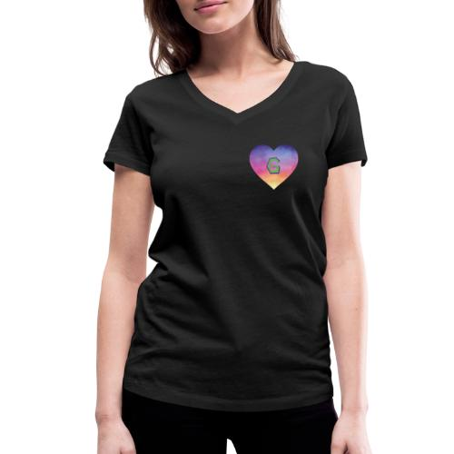 Gee, that's a great Letter G - Women's Organic V-Neck T-Shirt by Stanley & Stella
