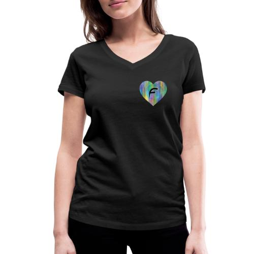 Dont be a freakin fool, fake fame forever! - Women's Organic V-Neck T-Shirt by Stanley & Stella
