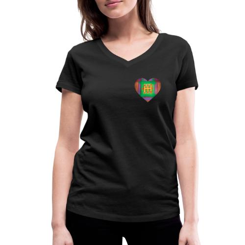 HH with a Heart - Women's Organic V-Neck T-Shirt by Stanley & Stella