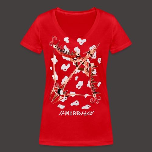 Sagittaire Négutif - T-shirt bio col V Stanley & Stella Femme