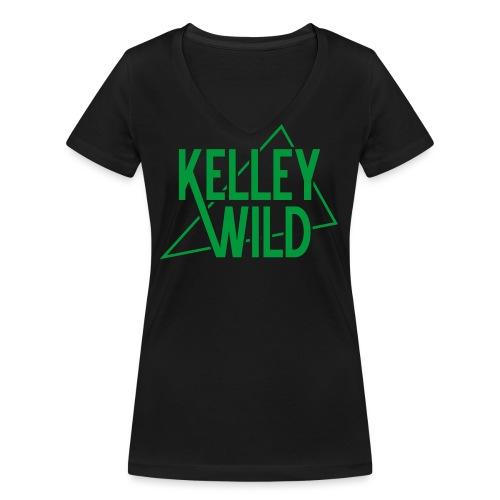 KW RETRO LOGO green png - Frauen Bio-T-Shirt mit V-Ausschnitt von Stanley & Stella