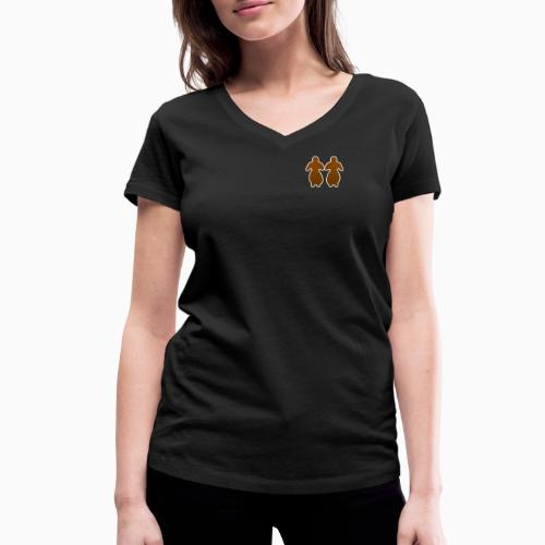Lesbiske Pepperkaker! - Women's Organic V-Neck T-Shirt by Stanley & Stella