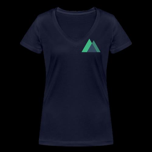 Mountain Logo - Women's Organic V-Neck T-Shirt by Stanley & Stella