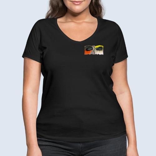 Closed Eyes Berlin PopArt ickeshop BachBilder - Frauen Bio-T-Shirt mit V-Ausschnitt von Stanley & Stella
