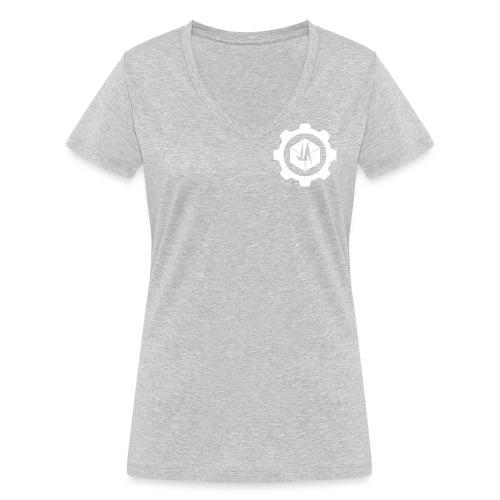 Jebus Adventures Cog White - Women's Organic V-Neck T-Shirt by Stanley & Stella