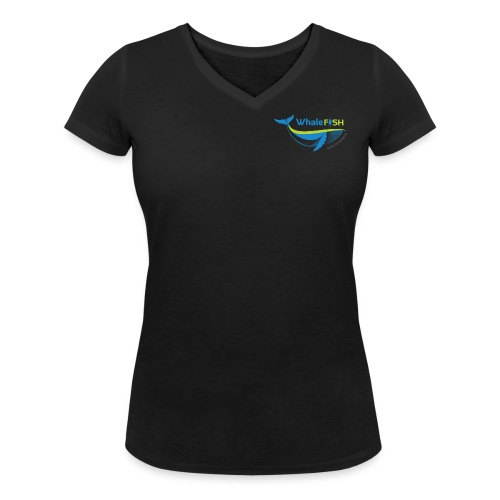 WF Logo With Strap png - Women's Organic V-Neck T-Shirt by Stanley & Stella