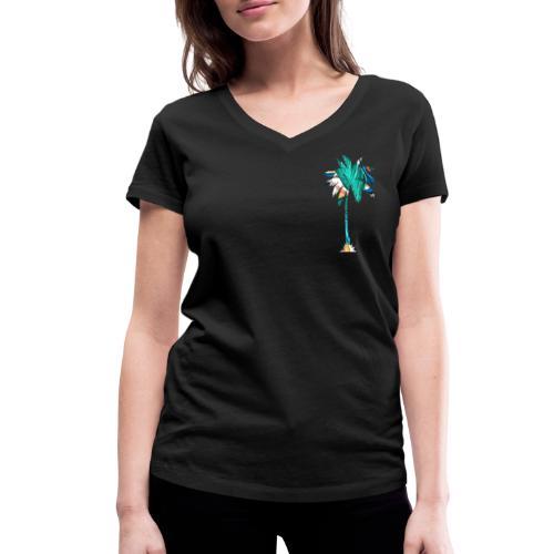 Fancy Palme 2 - Frauen Bio-T-Shirt mit V-Ausschnitt von Stanley & Stella