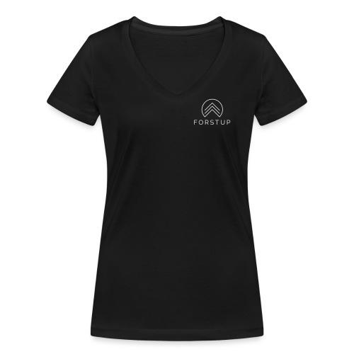FORSTUP - Wir pflanzen Wald! - Frauen Bio-T-Shirt mit V-Ausschnitt von Stanley & Stella